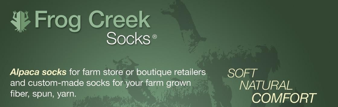 Contact Frog Creek Socks!